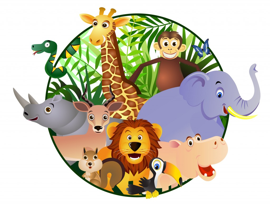 Zoo Animals Together Clipart Coloriage anima...