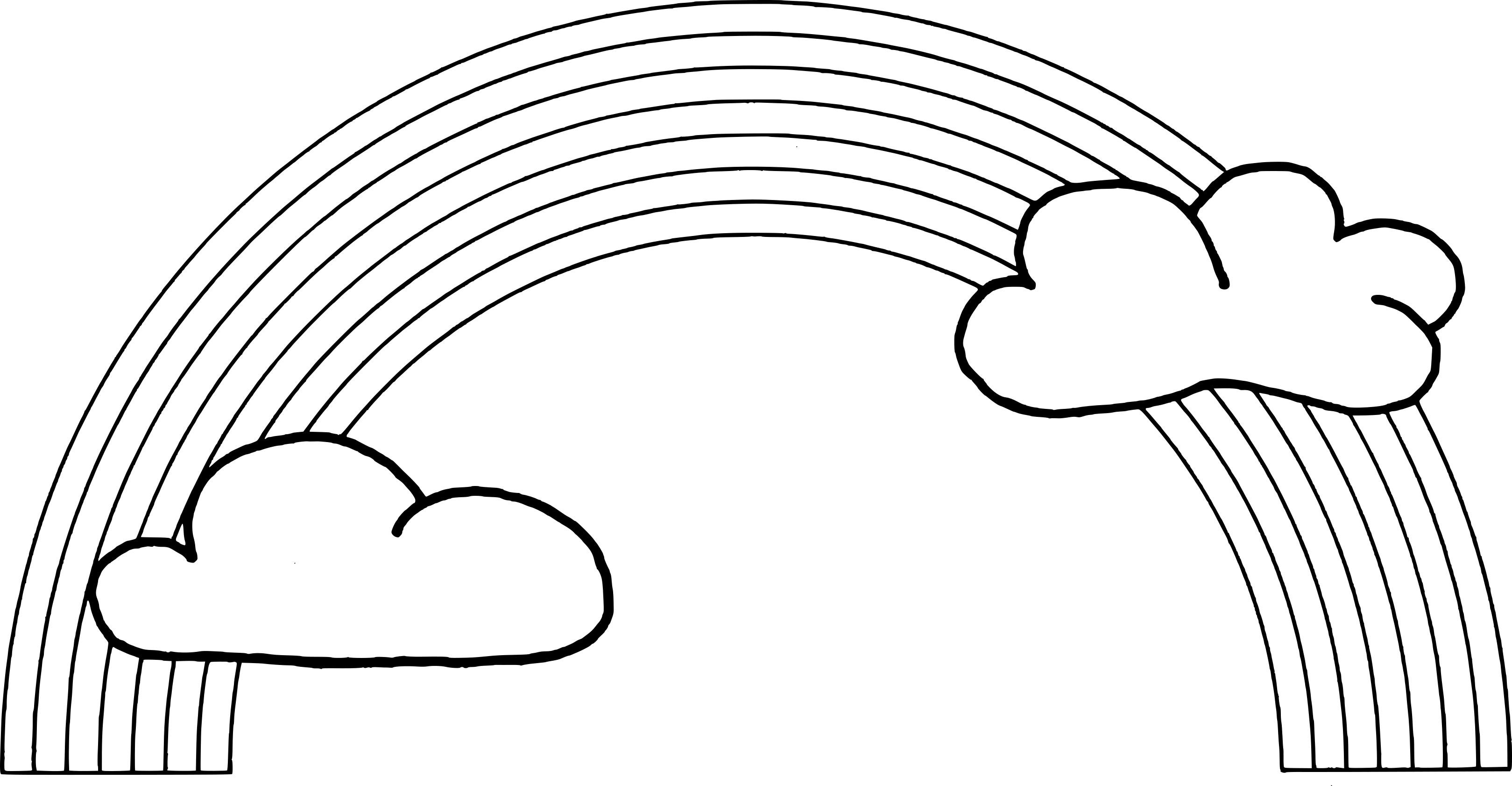 Coloriage arc en ciel et dessin imprimer - Coloriage ciel ...