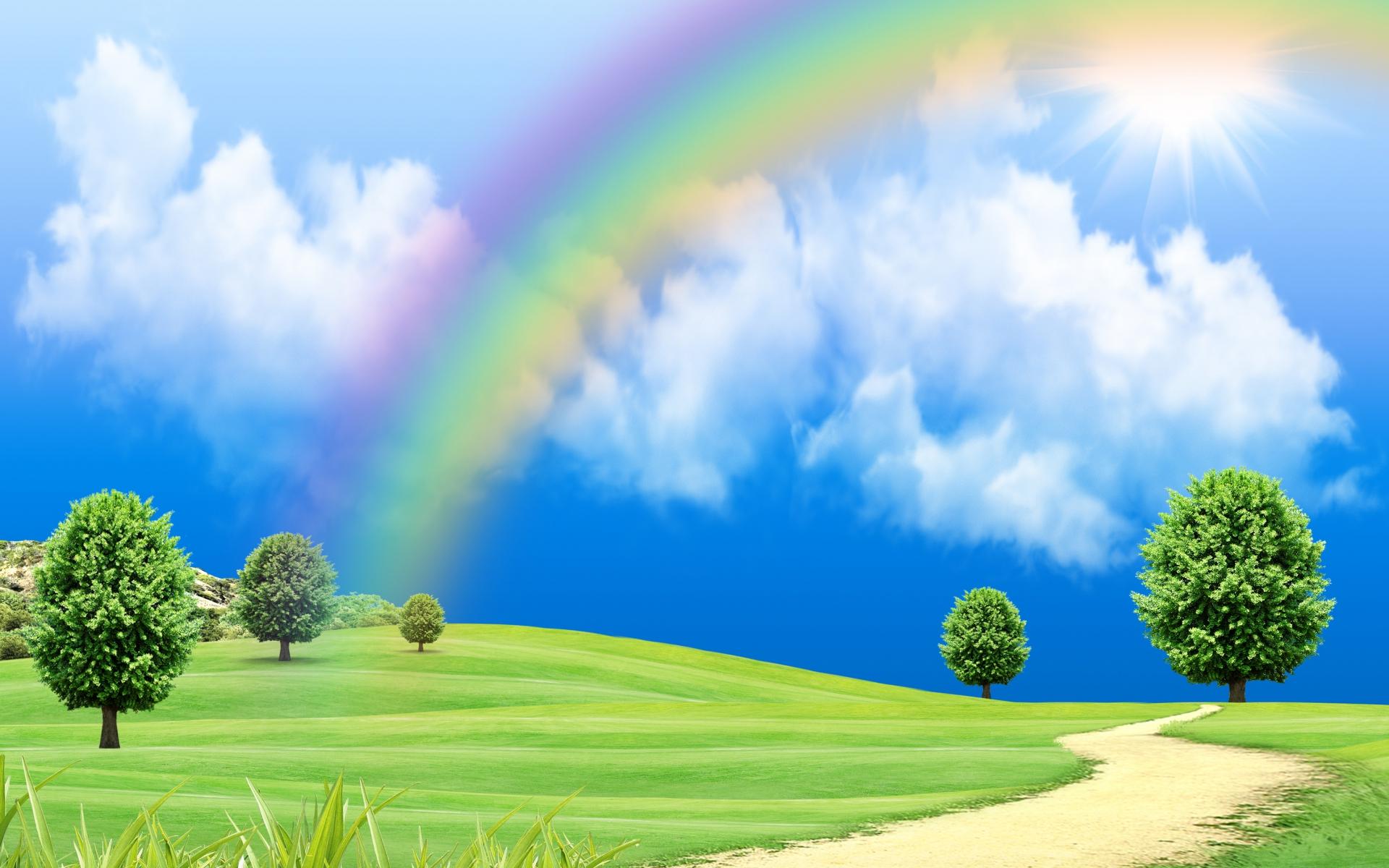 Coloriage Paysage Arc En Ciel.Coloriage Arc En Ciel Et Dessin A Imprimer