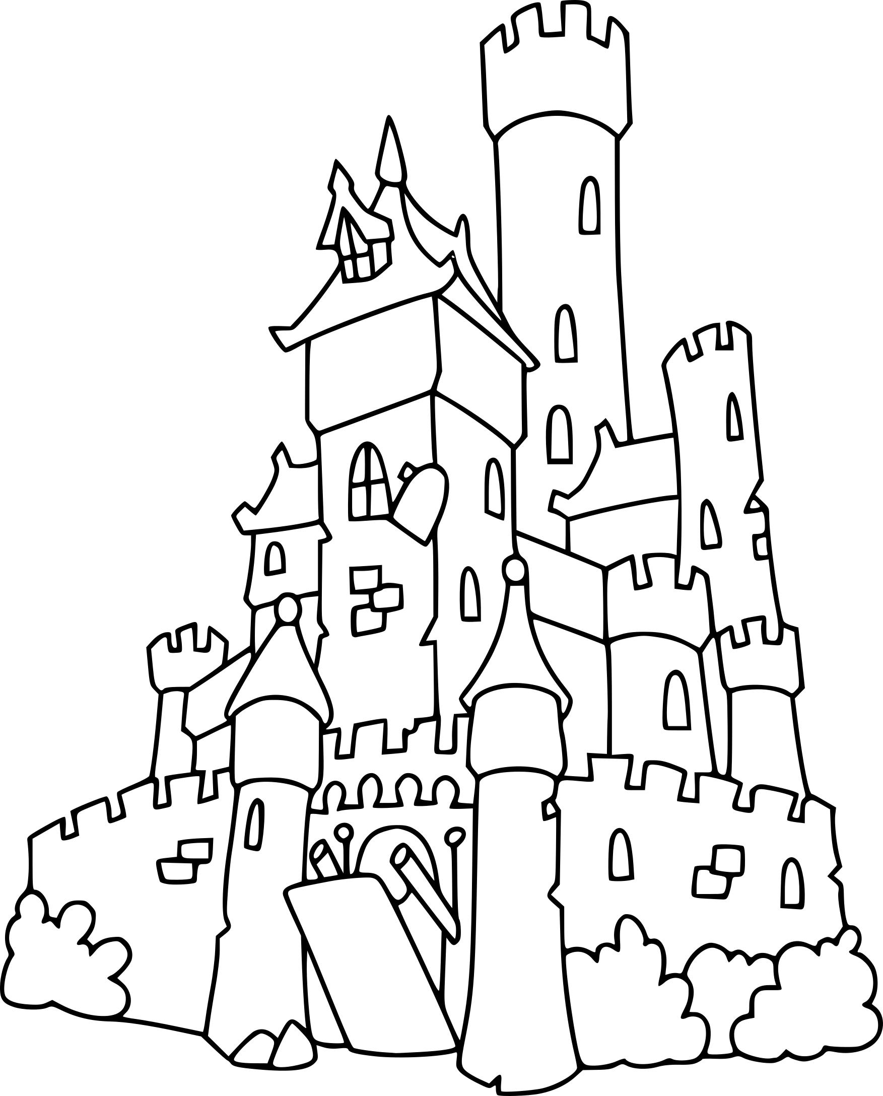 Coloriage chateau et dessin à imprimer