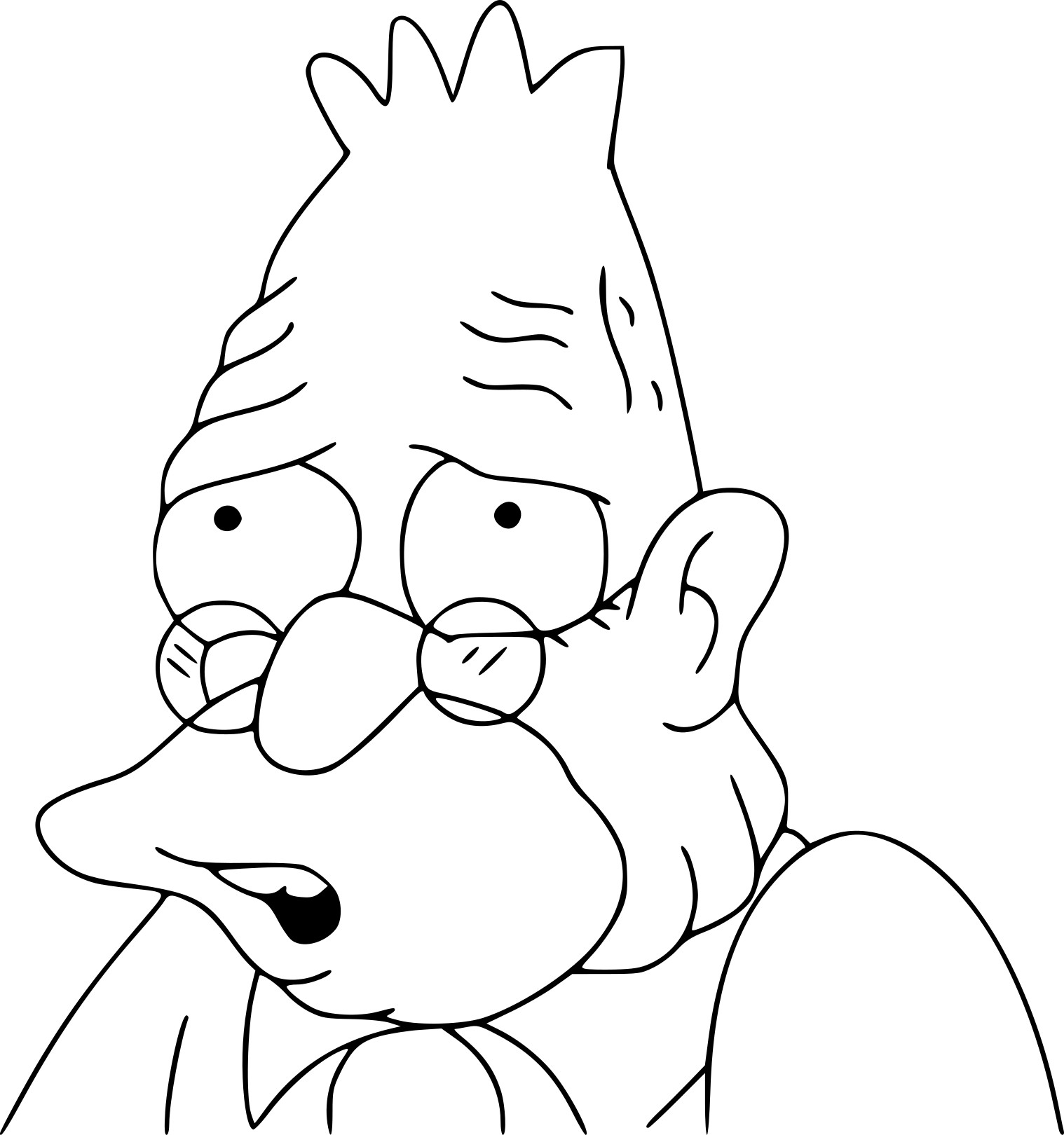Coloriage Abe Simpson