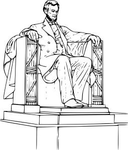 Coloriage Abraham Lincoln