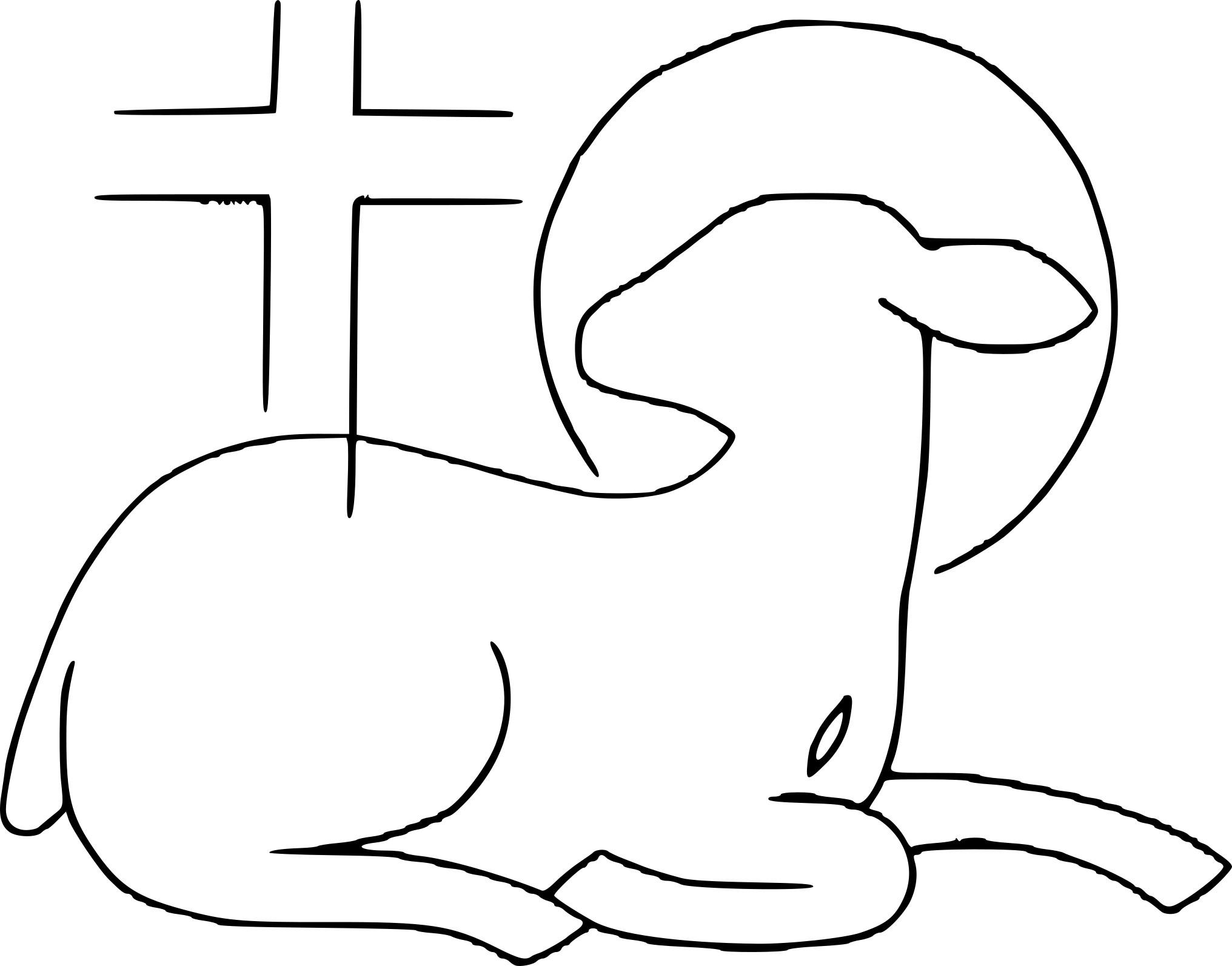 Coloriage agneau de dieu