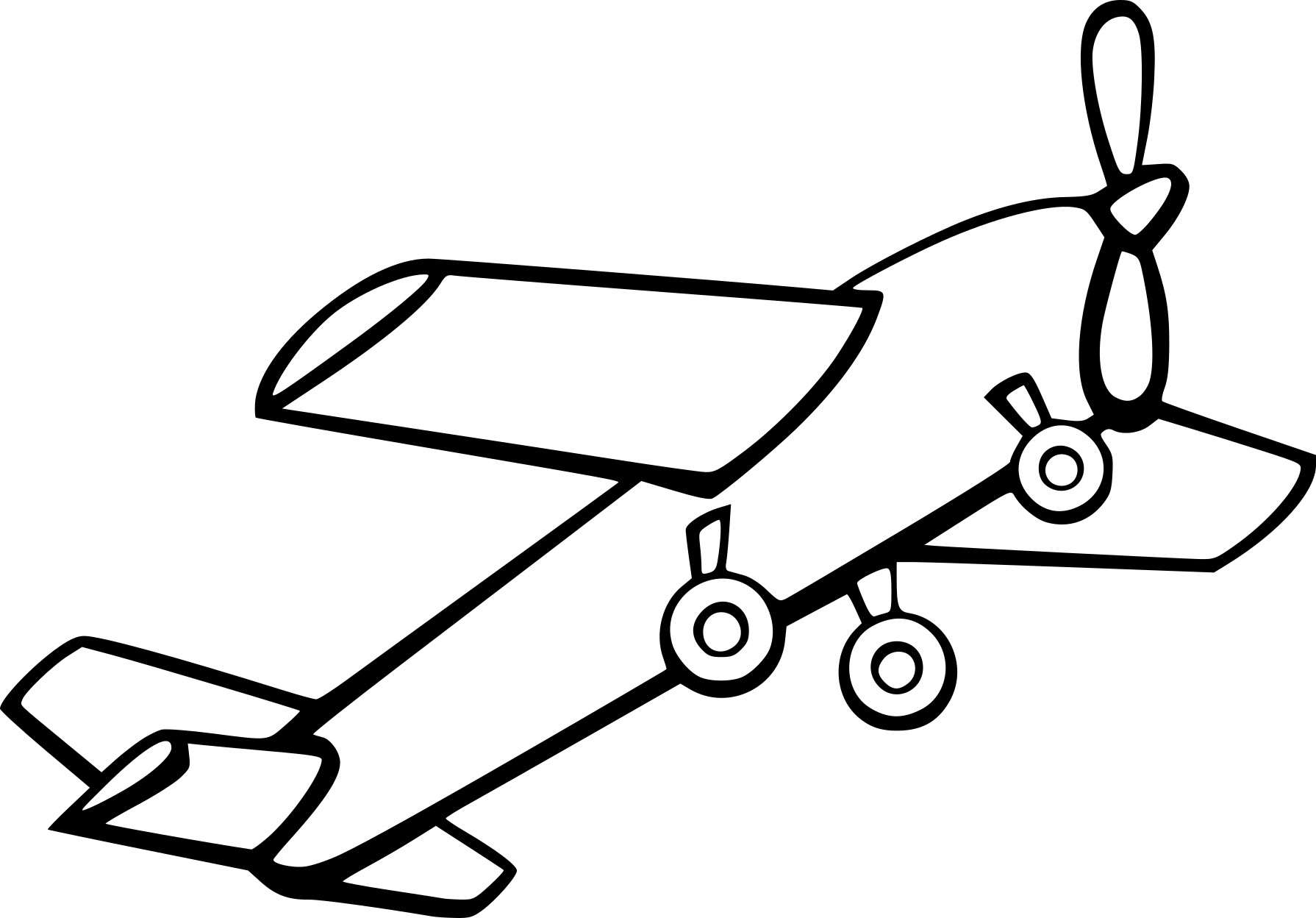 Coloriage avion ancien imprimer - Dessins avions ...