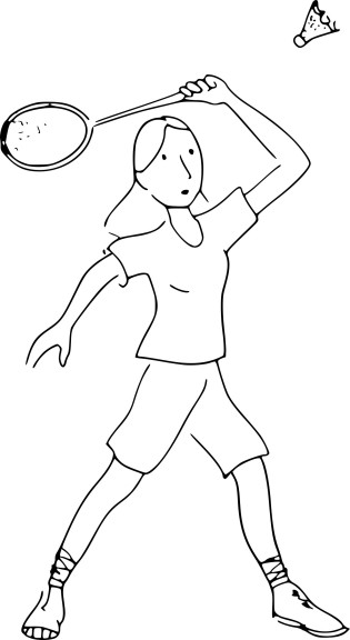 Coloriage Badminton