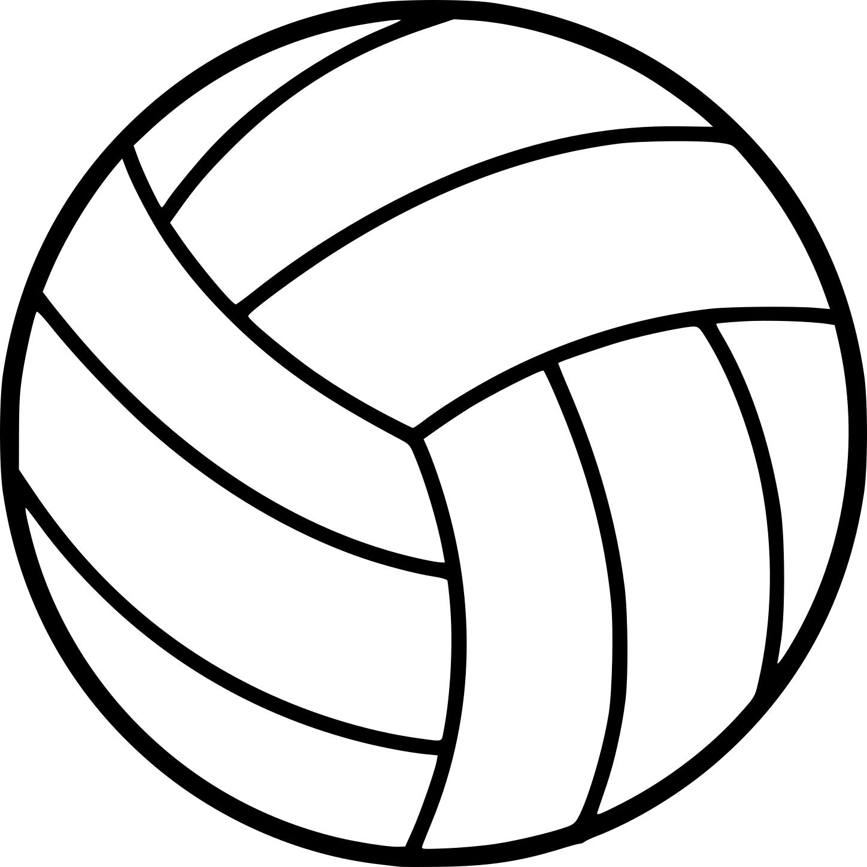 Coloriage ballon de Volleyball