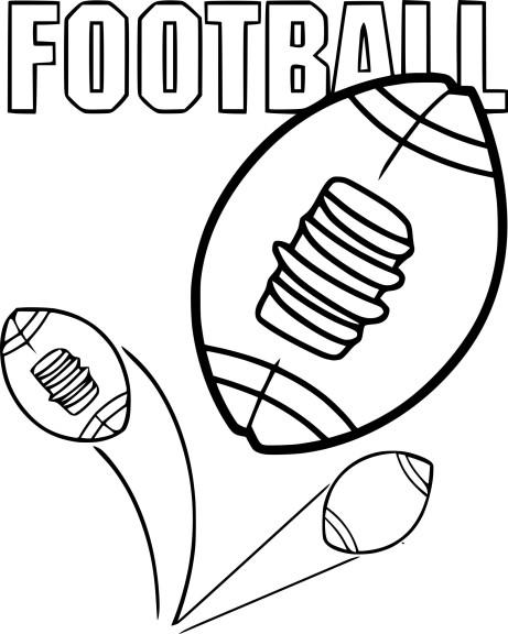 Coloriage ballon football americain