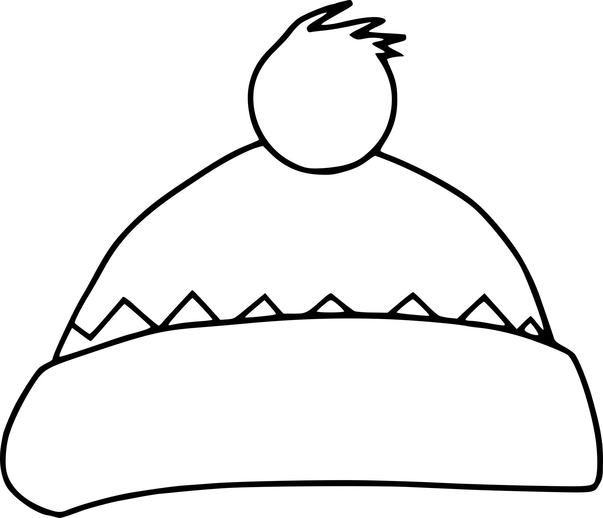 Coloriage bonnet hiver