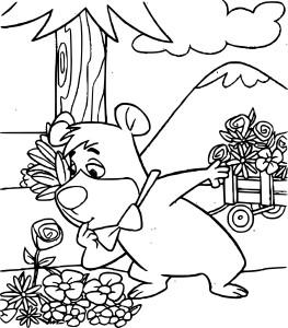 Coloriage Boubou l'ours