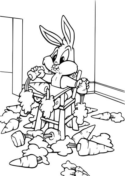 Coloriage Bugs Bunny mange