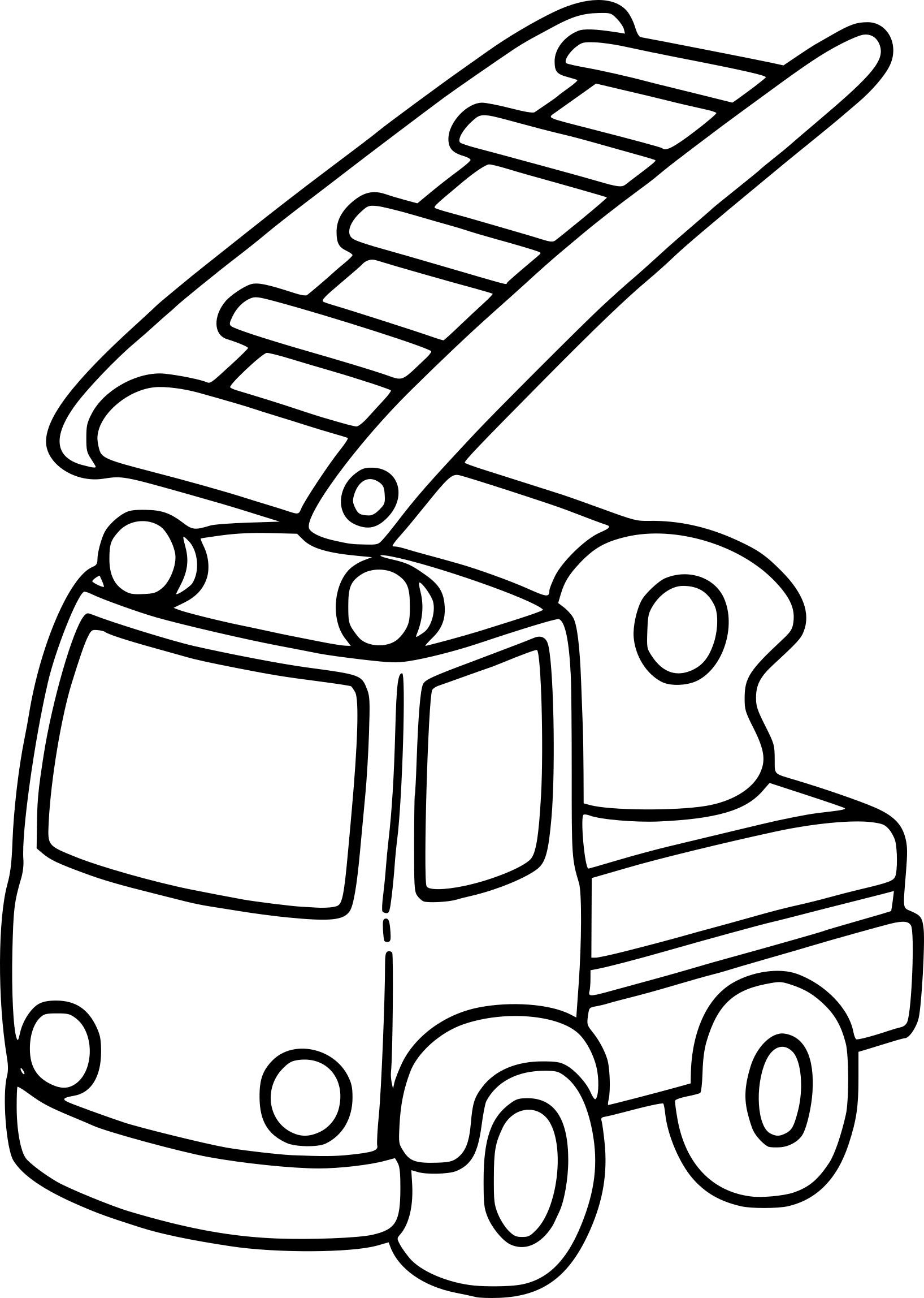 coloriage camion enfant  u00e0 imprimer