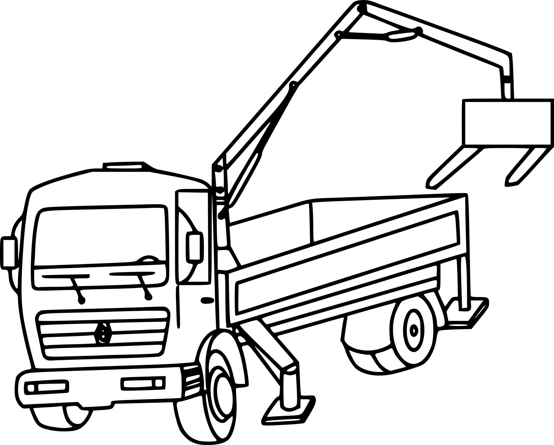 Coloriage camion grue imprimer - Dessin de grue ...