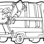 Coloriage camion poubelle - Coloriage camion de poubelle ...