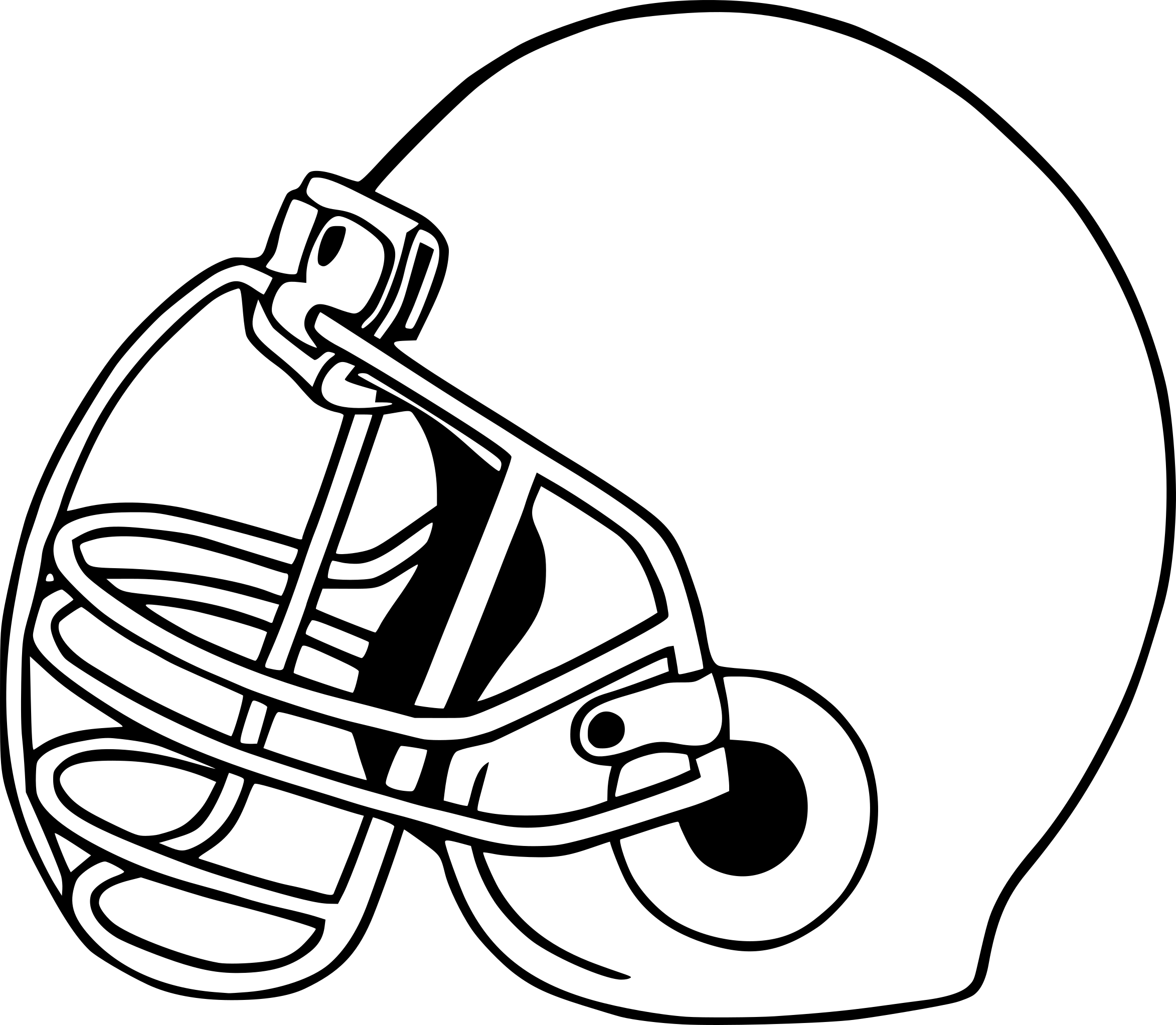Coloriage casque football americain