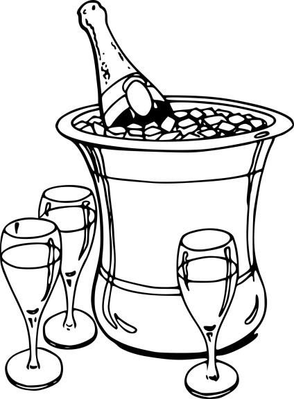 Coloriage champagne