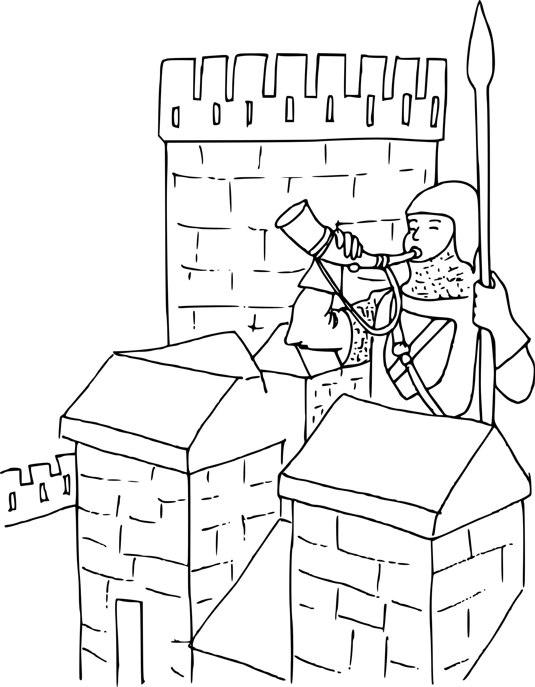 Coloriage Chateau Fort A Imprimer
