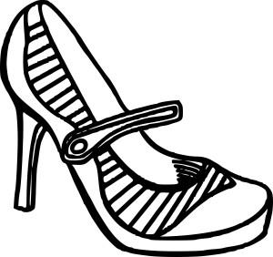 Coloriage Chaussures à talon