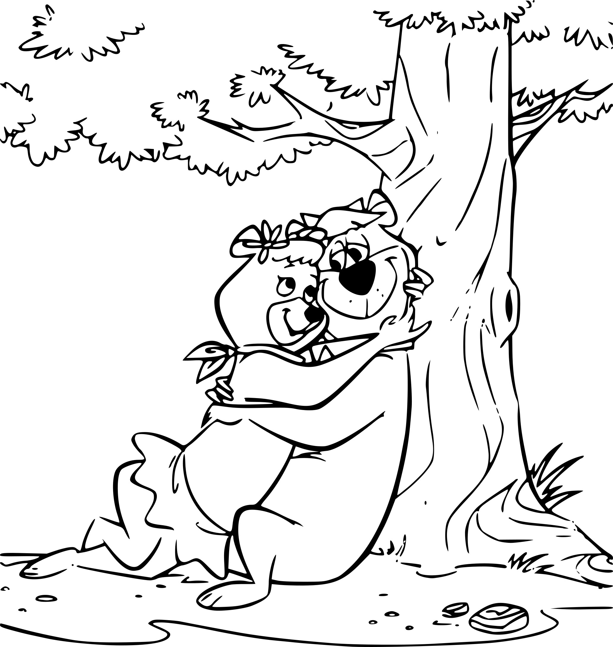 Coloriage Cindy Bear et Yogi