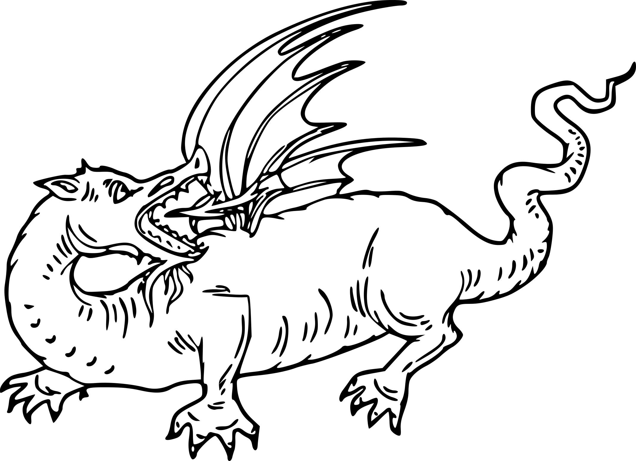 Coloriage dragon rouge à imprimer