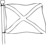 Coloriage drapeau de l'Ecosse