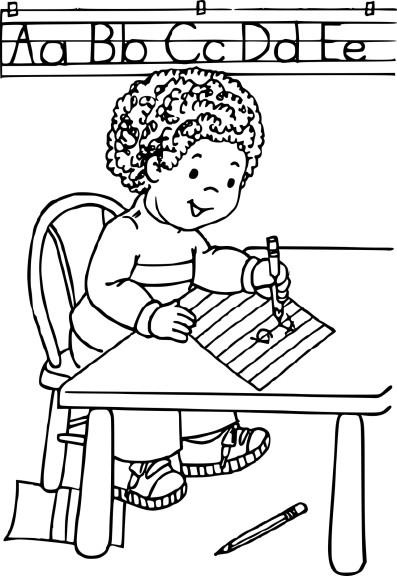 Coloriage enfant apprend à ecrire a imprimer