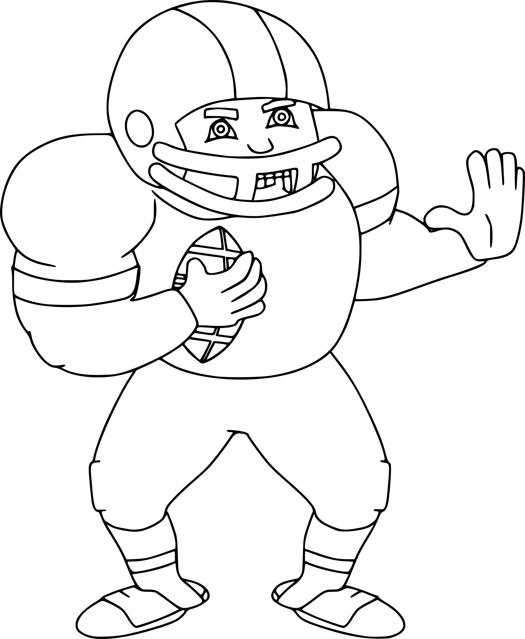Coloriage football americain