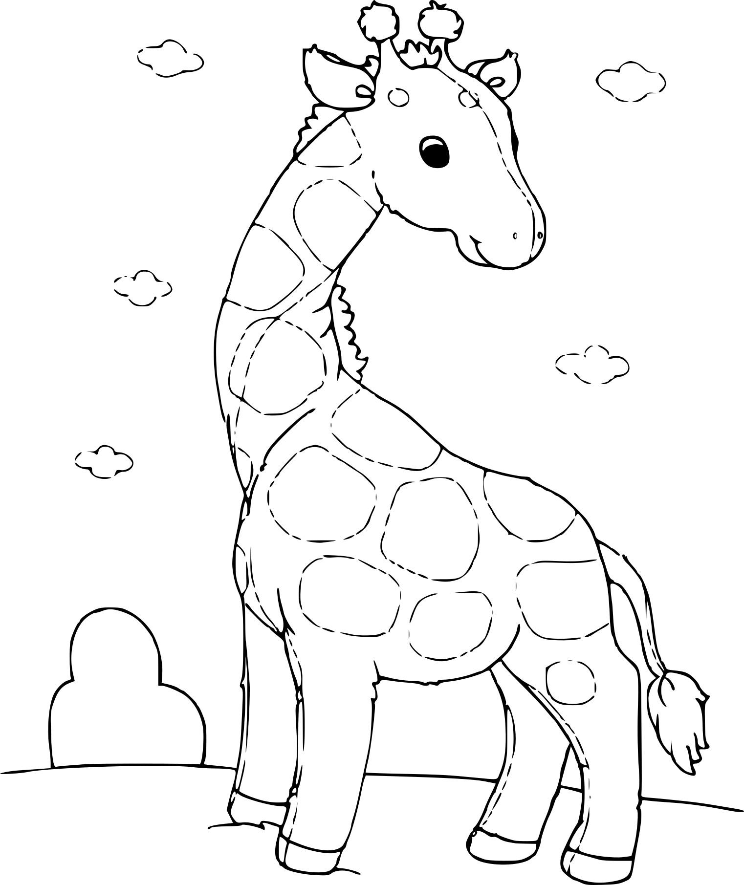 Coloriage girafon