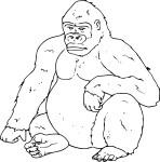 Coloriage gorille