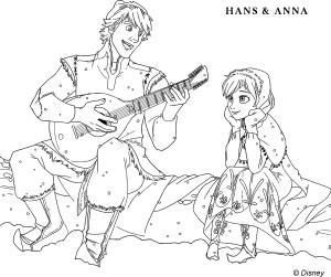 Coloriage Kristoff et Anna
