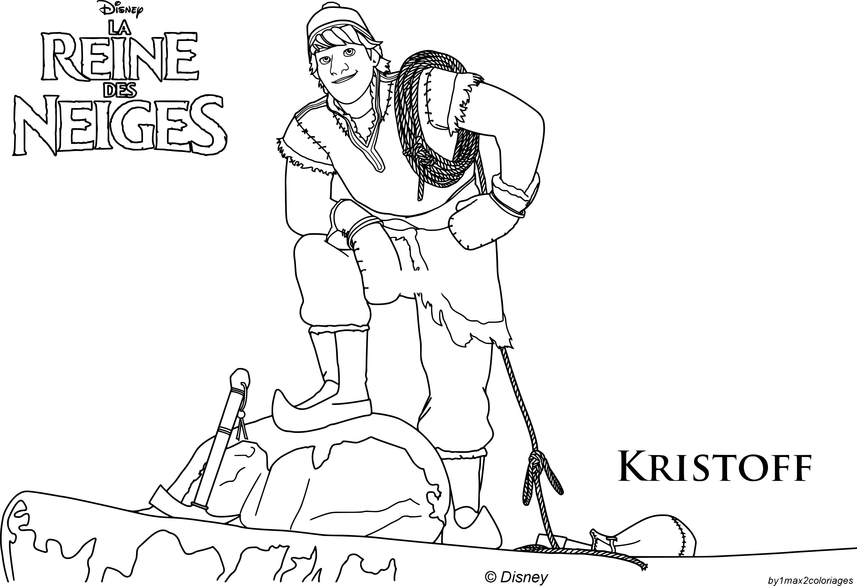 Coloriage Kristoff Reine des Neiges