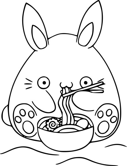 Coloriage lapin kawaii