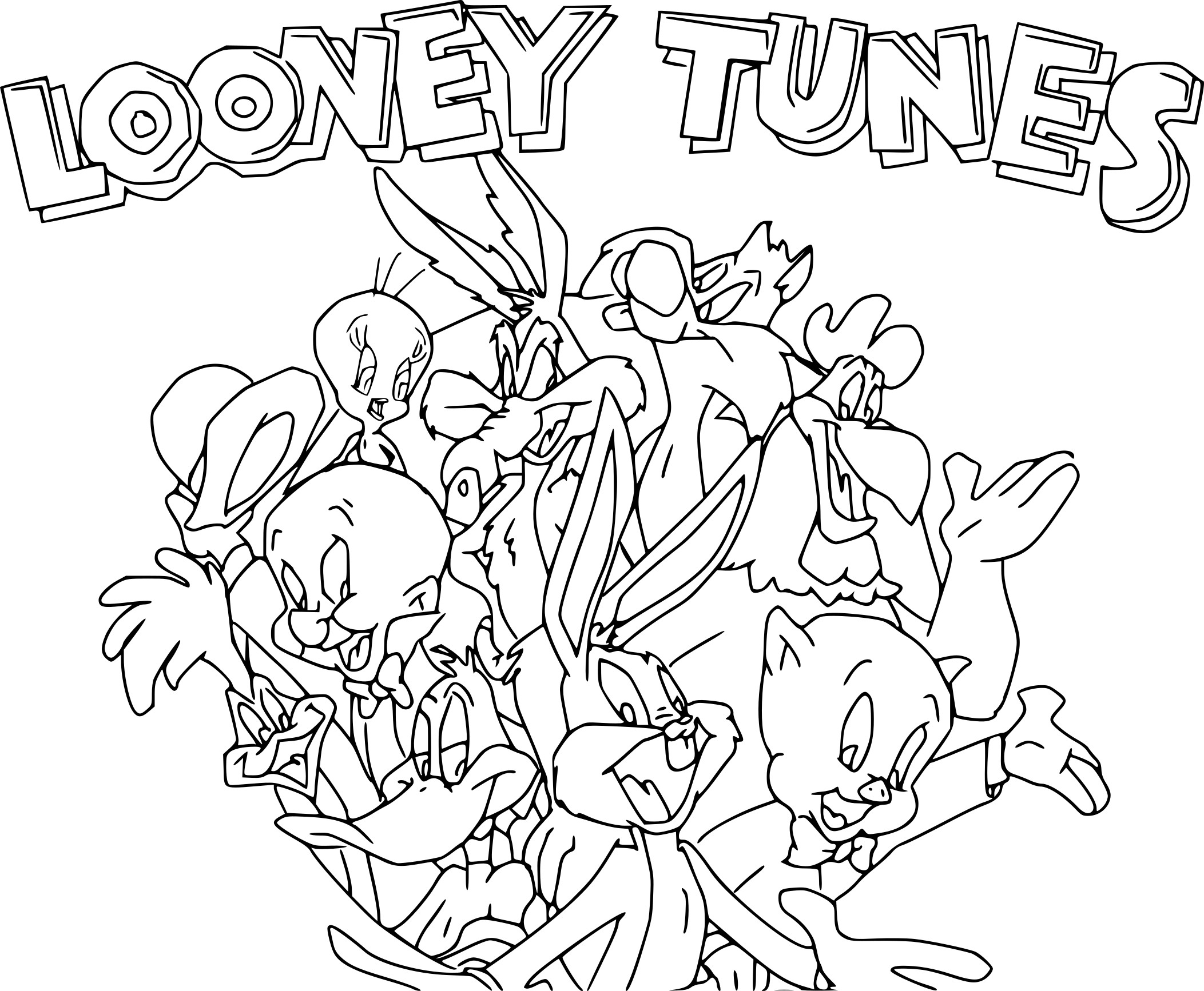 Coloriage Looney Tunes