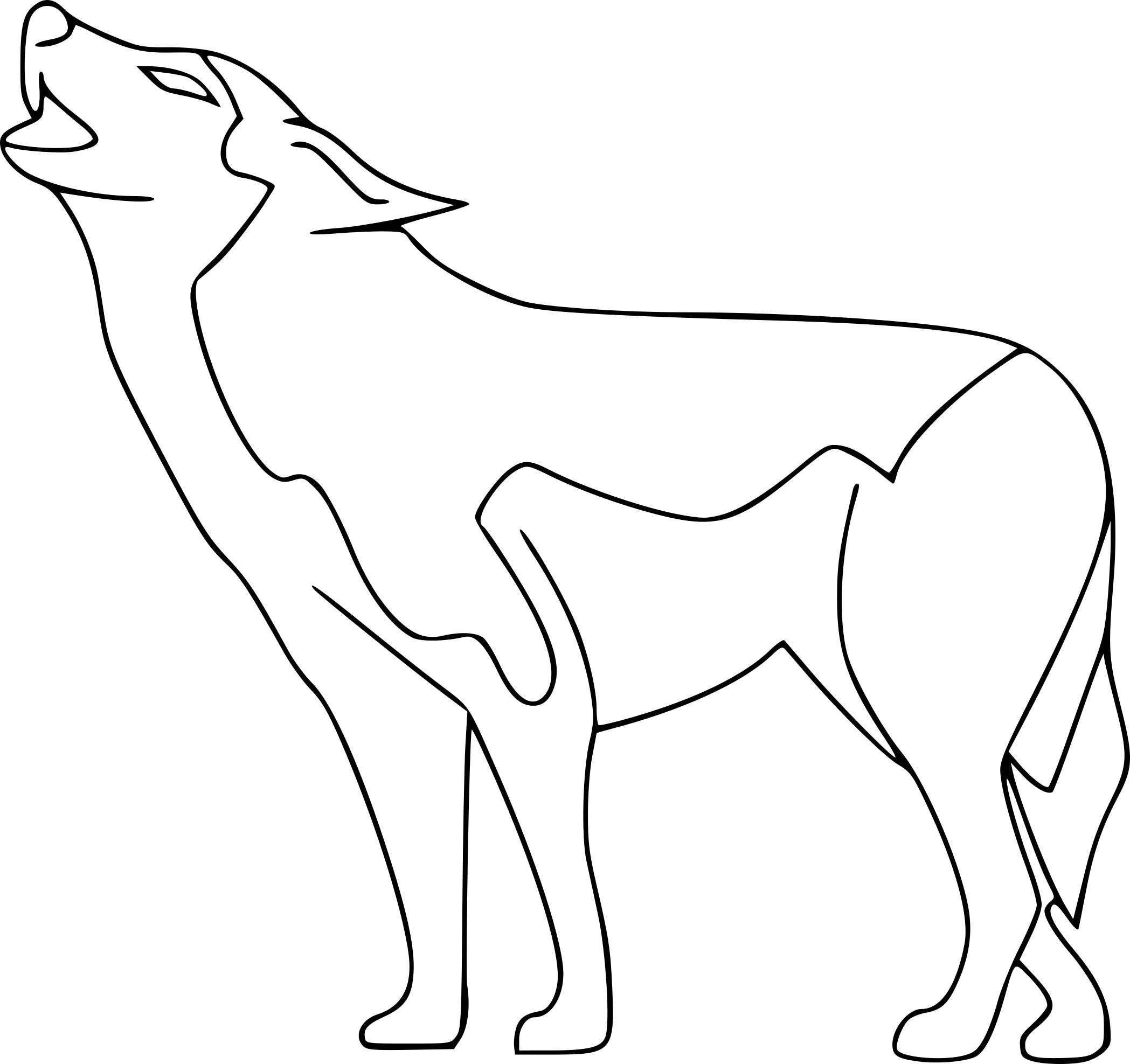Coloriage Loup à Imprimer