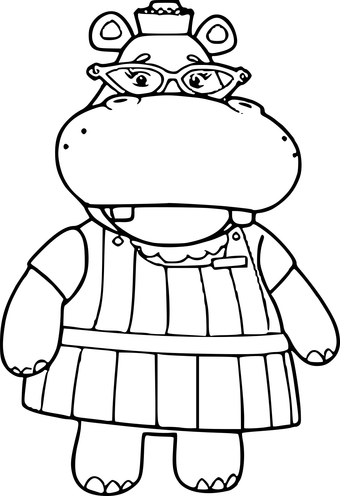 Coloriage Madame Hippopotame 224 Imprimer