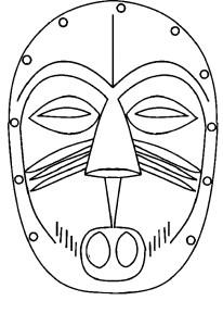 Coloriage masque Afrique