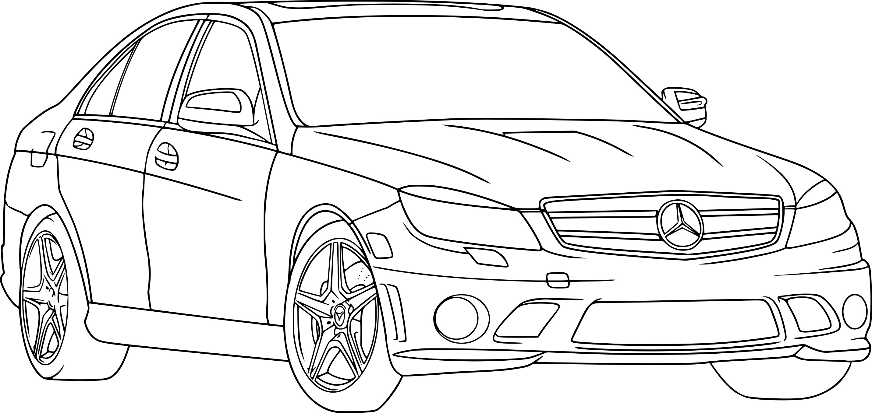 Coloriage Mercedes Benz
