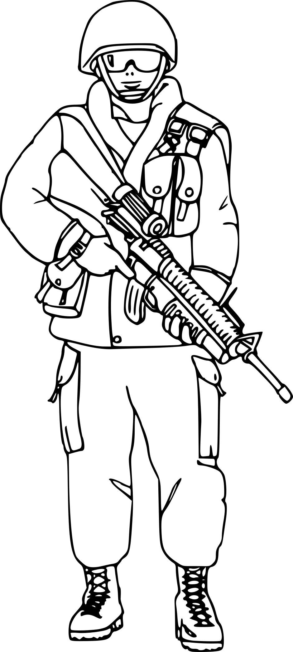 Coloriage militaire imprimer - Dessin de militaire ...