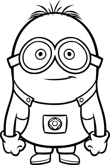 Coloriage Minion Dave