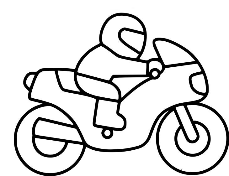 Coloriage moto enfant imprimer - Dessin de moto cross ...