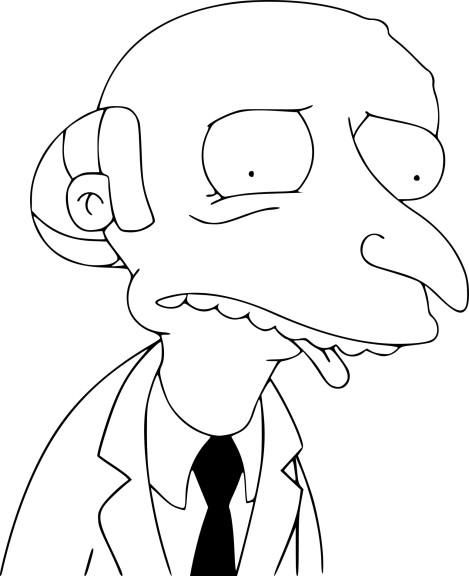 Coloriage Mr Burns