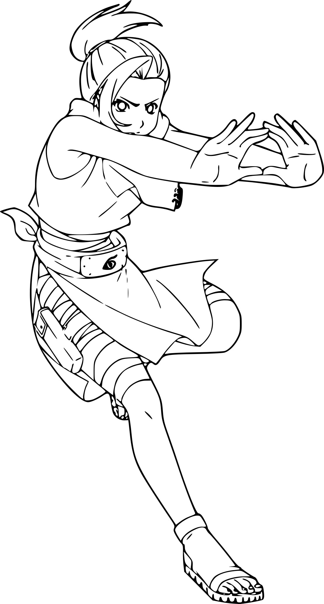 Coloriage Naruto fille à imprimer
