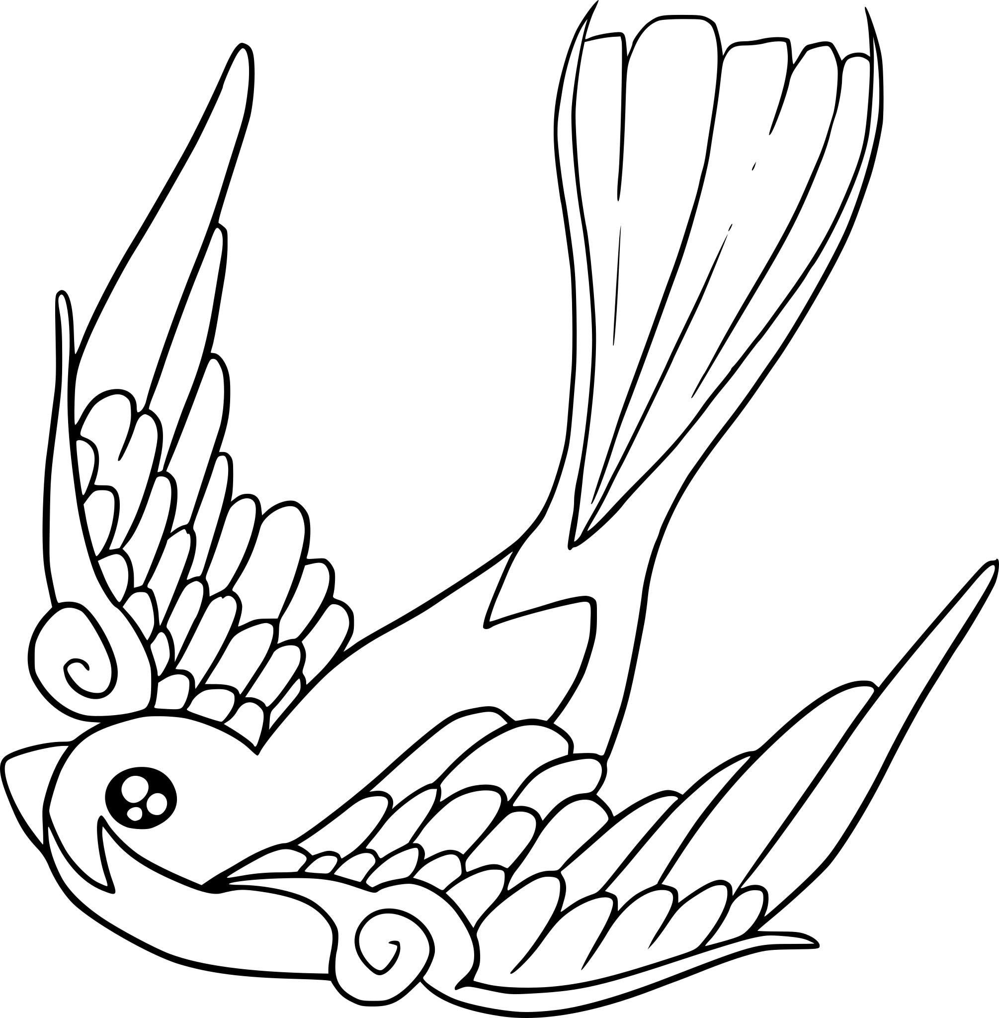 Coloriage oiseau du paradis