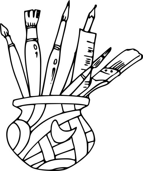 Coloriage outils de peintre