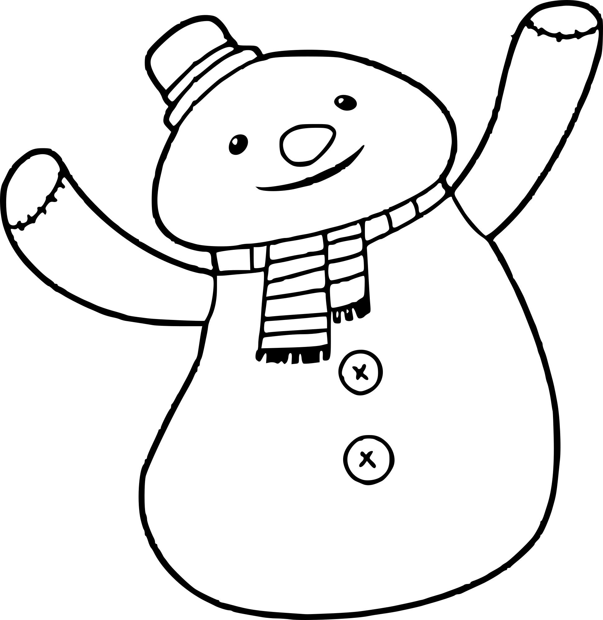 Coloriage peluche bonhomme de neige imprimer - Bonhomme de neige a imprimer gratuit ...