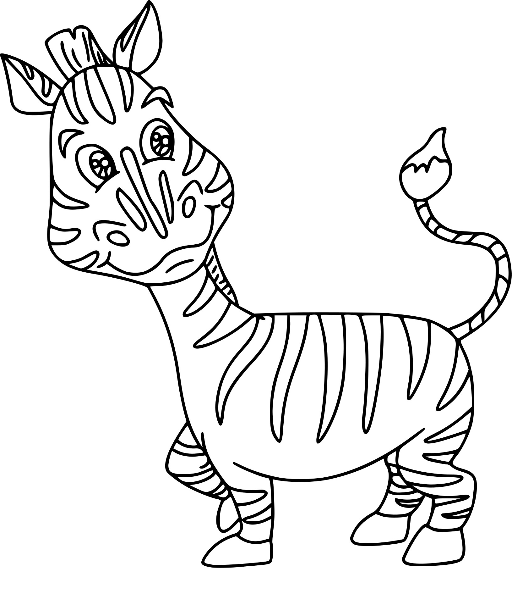 Coloriage petit zebre