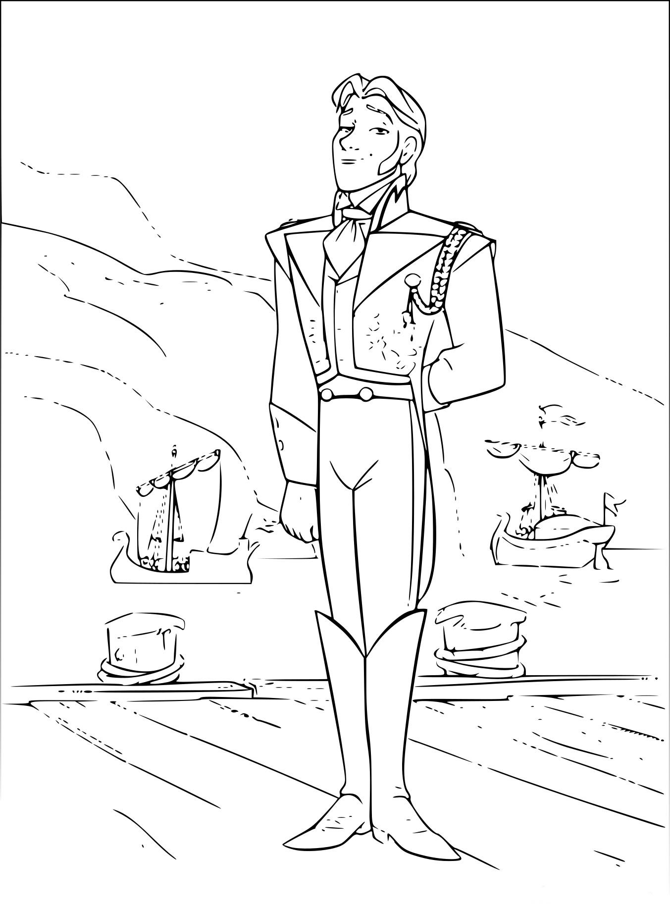 Coloriage Prince Hans