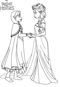Coloriage Princesse Reine des Neiges
