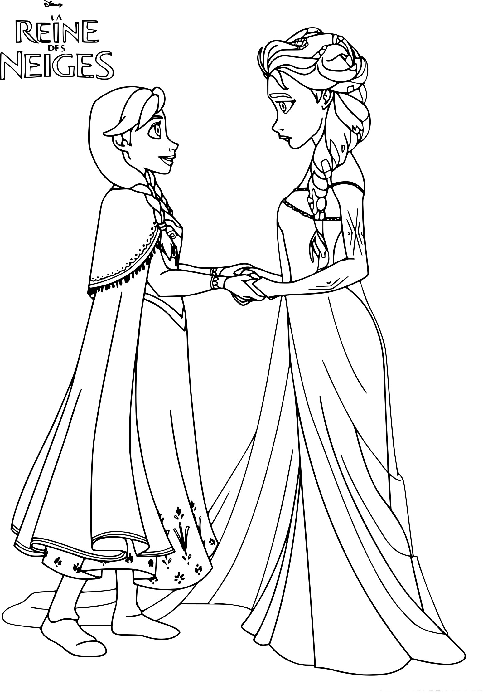 coloriage princesse reine des neiges