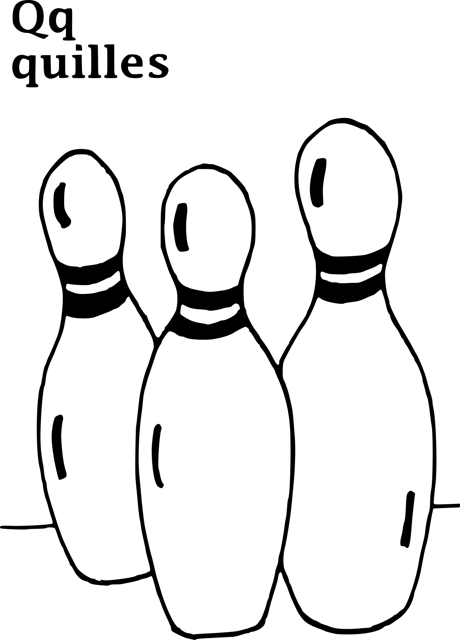 Coloriage quilles bowling