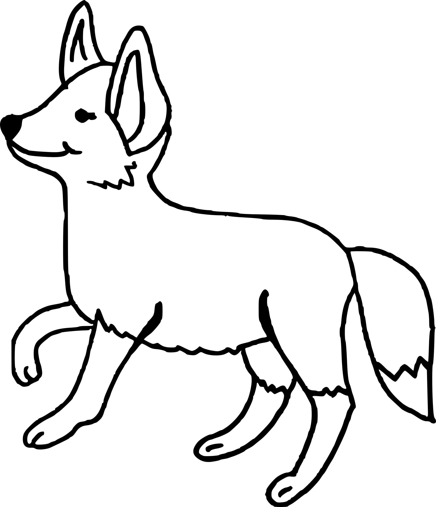 Coloriage renard
